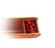 Time in motion. Red clock in motion Stock Image