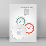 Time motion gears A4 brochure layout page Royalty Free Stock Photos