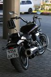 Motorcycle Yamaha XV1700PC Road Star Warrior. Back view stock image