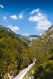 Time in the mountains. Road Buynovsko Gorge, southern Rhodopes, Bulgaria Stock Photos