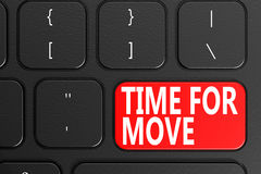 Time For Move on black keyboard Royalty Free Stock Photo
