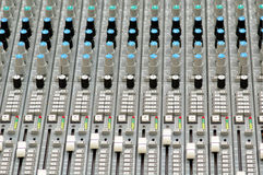 Time for music. Mixing console Stock Photography