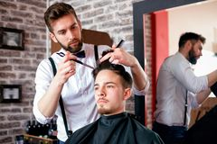 Time for new haircut, must be perfect and attractive. Stock Image