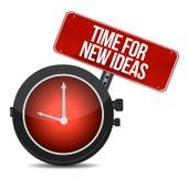 Time for new ideas concept. Illustration design over white Stock Photo