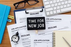 Time for new job Stock Image