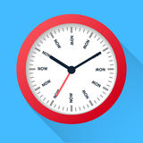 Time is now concept. Watch symbol illustration on dark background. Time management Royalty Free Stock Image