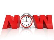 Time NOW concept. Stock Photos