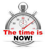 The time is now Royalty Free Stock Photos