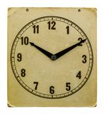Time on old wall clock ten hours ten minutes Stock Images