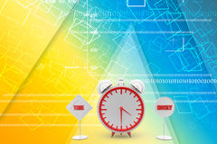 Time os money concept Illustration Royalty Free Stock Photography