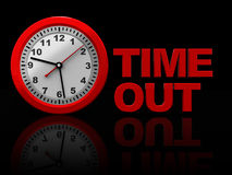 Time out stock illustration