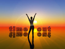 Time-out. Young woman as symbol for time out, recreation and relaxation Stock Images
