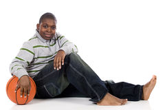 Time Out from Basketball Royalty Free Stock Photography