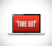 Time out computer message Stock Images