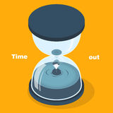 Time out concept. In 3d isometric flat design Royalty Free Stock Photos