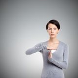 Time out hand gesture Stock Images