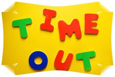 Time Out Sign. Uh-oh- has somebody been bad Royalty Free Stock Photography