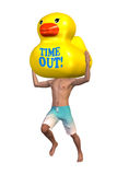 Time Out Teabreak Vacation Rubber Duck Illustration Stock Image