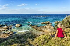 Time out to take in the beautiful coastal views of Australia royalty free stock photography