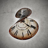 Time out. Vintage clock broken, concept of time out Royalty Free Stock Images