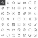 Time outline icons set. Linear style symbols collection, line signs pack. vector graphics. Set includes icons as smartwatch, watch, alarm, clock, timer Royalty Free Stock Photography
