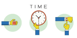 Time outline icons Royalty Free Stock Images