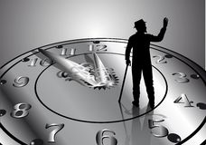 Time passes vector illustration