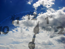 Time passing by. A detail of a metaphor of time passing by Royalty Free Stock Images