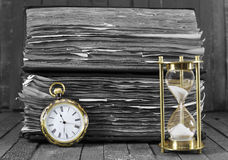 Time passing, black and white style Stock Photos