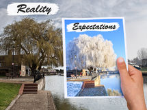 Time  passing concept autumn vs winter Stock Images
