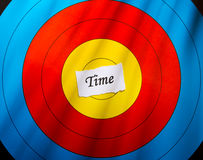 Target on time concept royalty free stock photos