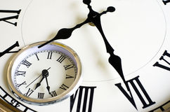 Time Passing Concept - Old Clock Stock Photography