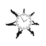 Time passing man from birth till death. On the white background royalty free illustration