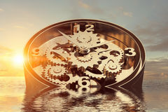 When time is passing . mixed media Stock Images