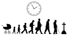 Time passing, vector concept. On the white background Stock Photos