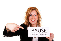 Time for pause Stock Image