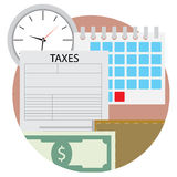 Time pay tax icon Stock Photo