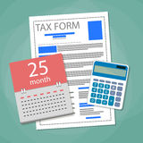 Time for pay taxes concept Royalty Free Stock Image