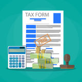Time for pay taxes concept Stock Images