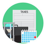 Time of payment of tax icon Royalty Free Stock Images
