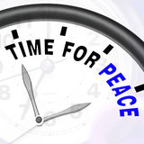 Time For Peace Message Shows Anti War And Peaceful Royalty Free Stock Photography