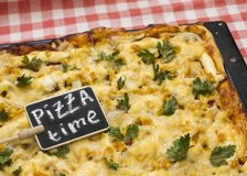 Time for pizza concept. Tasty Italian food Royalty Free Stock Image