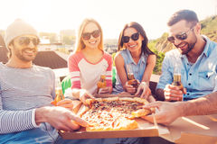 Time for pizza! Royalty Free Stock Image