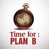 Time for plan B Royalty Free Stock Photo