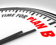 Time for Plan B Clock Rethink Planning Problem Issue Royalty Free Stock Image