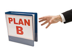 Time For Plan B! Stock Photography