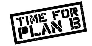 Time for plan B rubber stamp Royalty Free Stock Image
