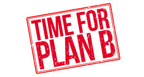 Time for plan B rubber stamp Royalty Free Stock Photo