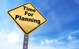 Time for planning sign. On blue sky background,3d rendered Royalty Free Stock Image