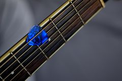 Time for playing acoustic guitars. Royalty Free Stock Image